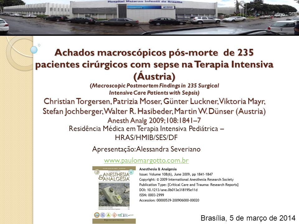 Achados macroscópicos pós-morte de 235 pacientes cirúrgicos com sepse na Terapia Intensiva (Áustria) (Macroscopic Postmortem Findings in 235 Surgical