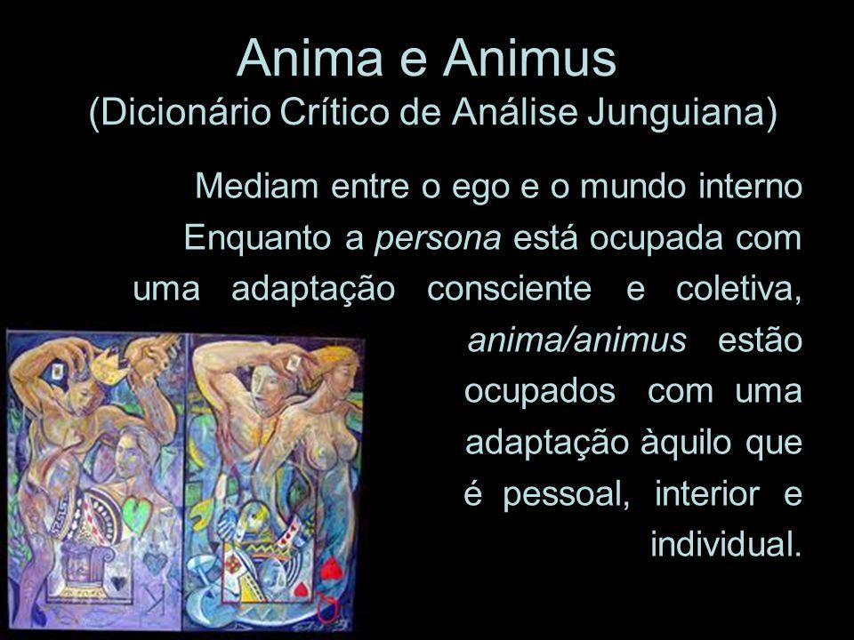 Anima e Animus (Dicionário Crítico de Análise Junguiana) Mediam entre o ego e o mundo interno Enquanto a persona está ocupada com uma adaptação consci