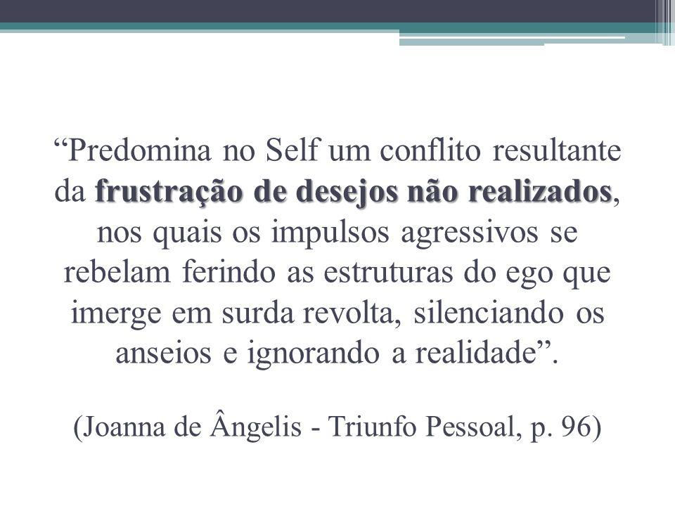 frustração de desejos não realizados Predomina no Self um conflito resultante da frustração de desejos não realizados, nos quais os impulsos agressivo