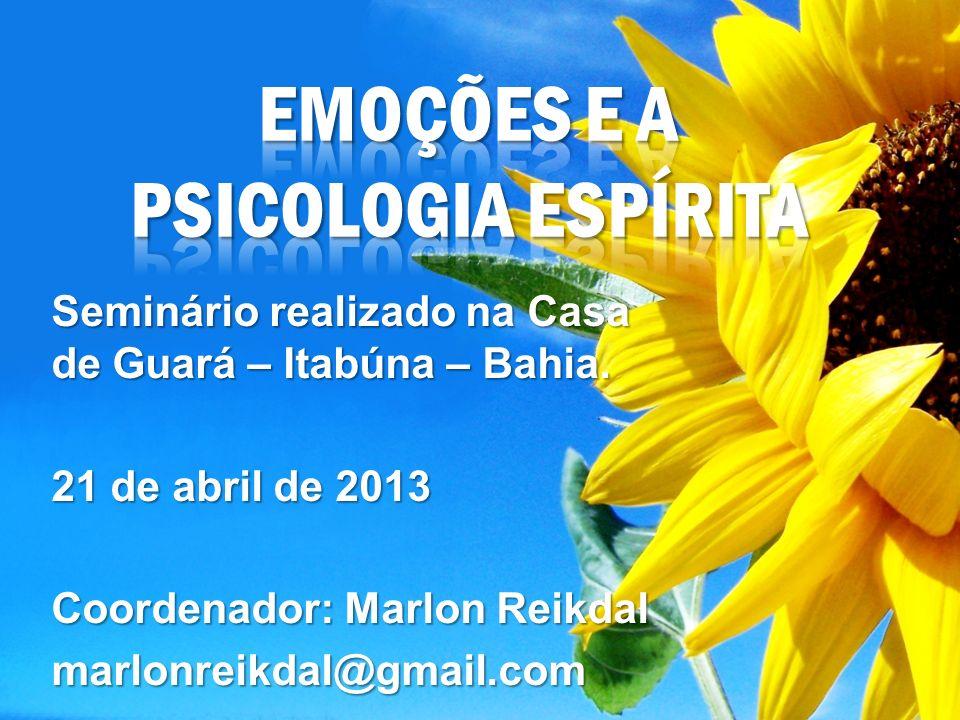 Seminário realizado na Casa de Guará – Itabúna – Bahia. 21 de abril de 2013 Coordenador: Marlon Reikdal marlonreikdal@gmail.com