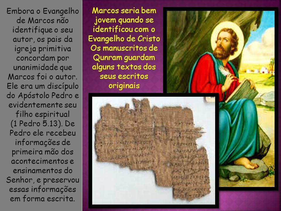 É geralmente aceito que Marcos é o João Marcos do NT (Atos 12.12).