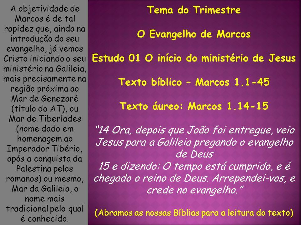 1 Princípio do evangelho de Jesus Cristo, Filho de Deus.