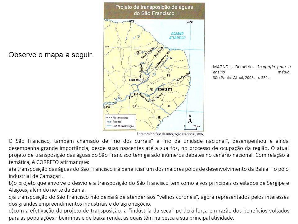 Observe o mapa a seguir.