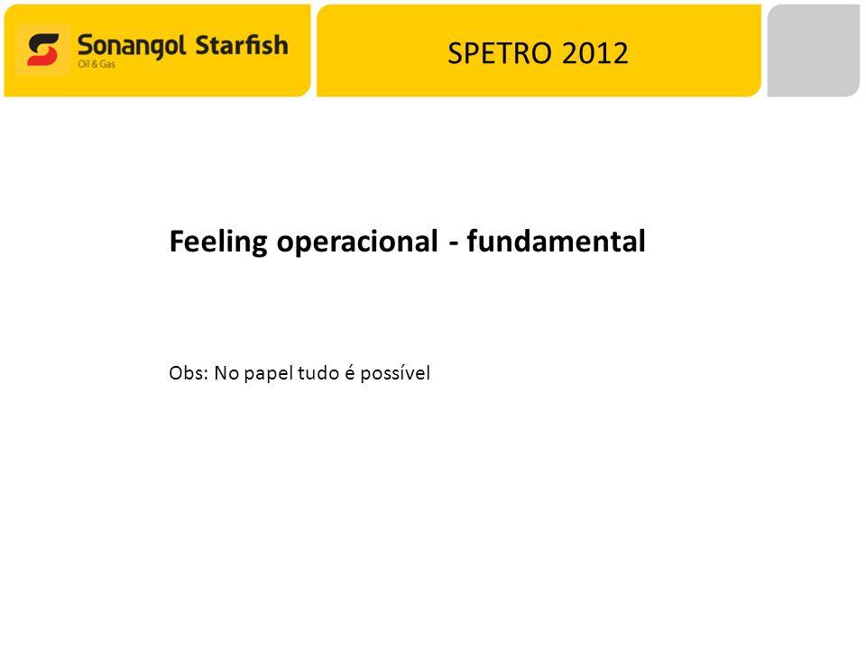SPETRO 2012 Feeling operacional - fundamental Obs: No papel tudo é possível
