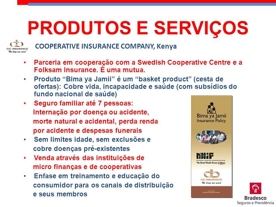 Parceria em cooperação com a Swedish Cooperative Centre e a Folksam Insurance. É uma mutua. Produto Bima ya Jamii é um basket product (cesta de oferta