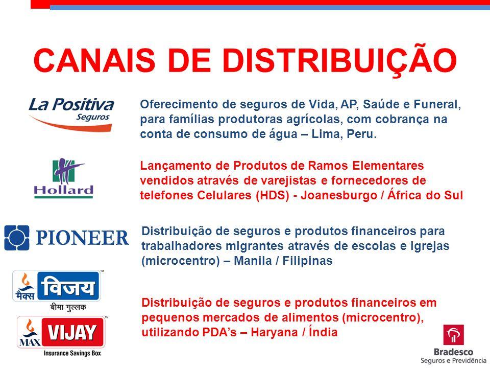 Oferecimento de seguros de Vida, AP, Saúde e Funeral, para famílias produtoras agrícolas, com cobrança na conta de consumo de água – Lima, Peru. Lança