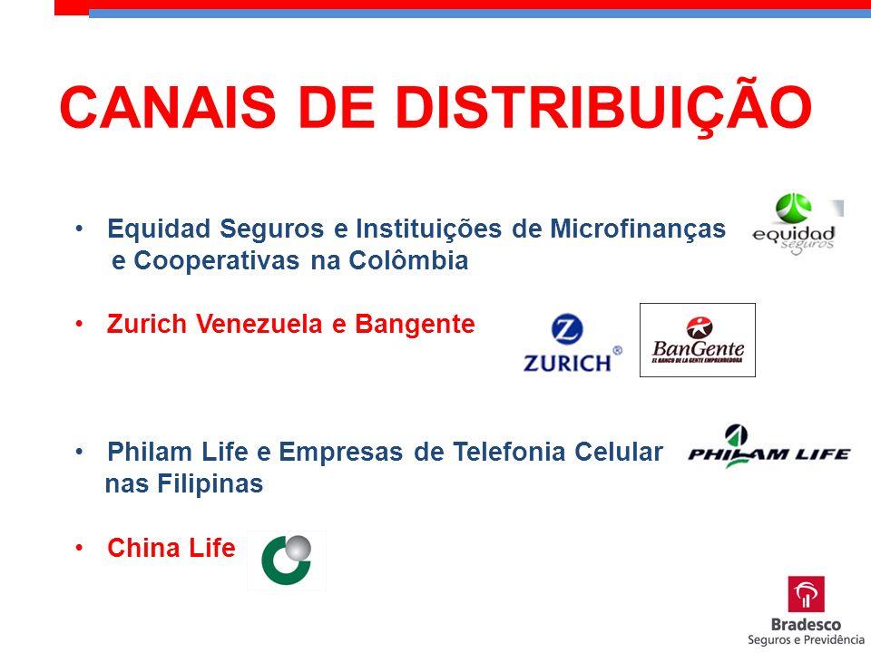Equidad Seguros e Instituições de Microfinanças e Cooperativas na Colômbia Zurich Venezuela e Bangente Philam Life e Empresas de Telefonia Celular nas