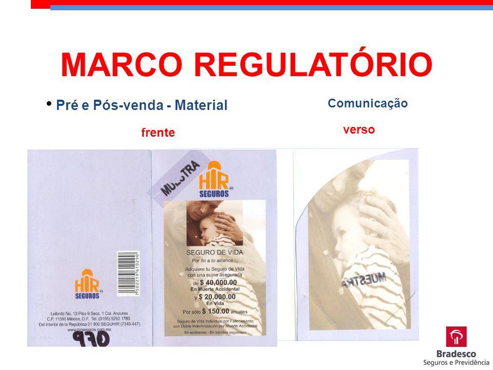 Comunicação Pré e Pós-venda - Material frente verso MARCO REGULATÓRIO