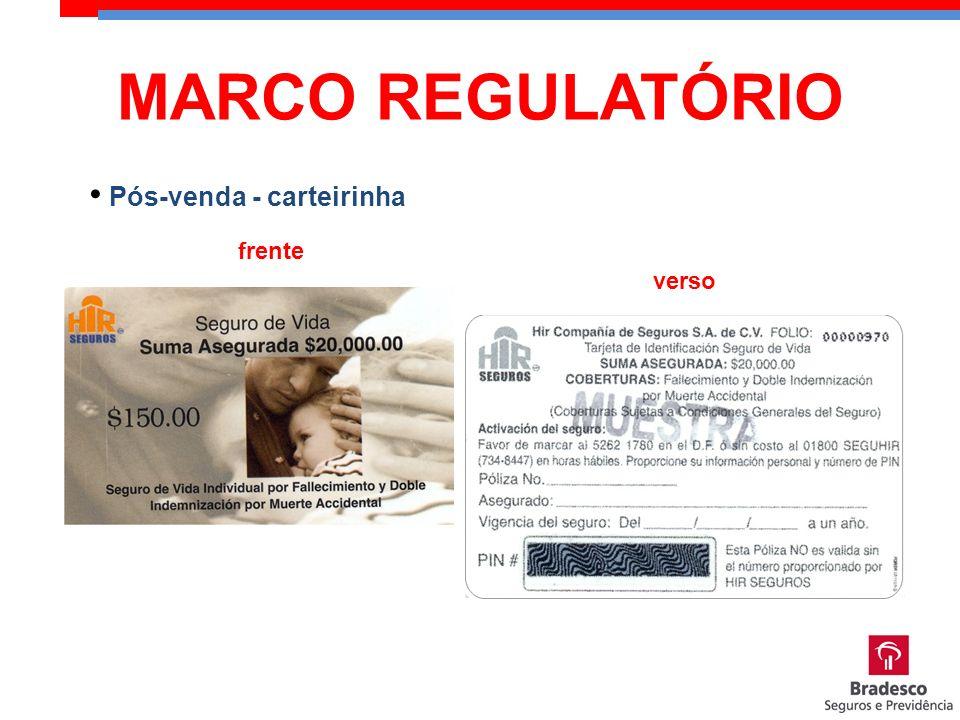 frente verso Pós-venda - carteirinha MARCO REGULATÓRIO