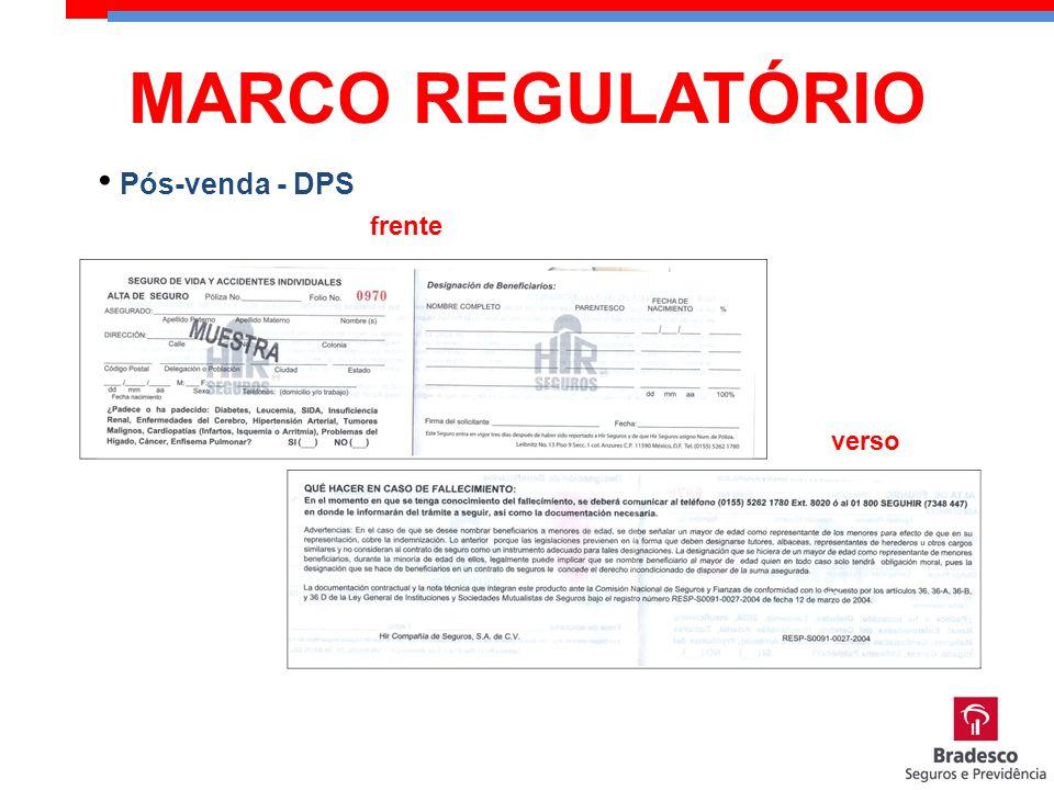 Pós-venda - DPS frente verso MARCO REGULATÓRIO