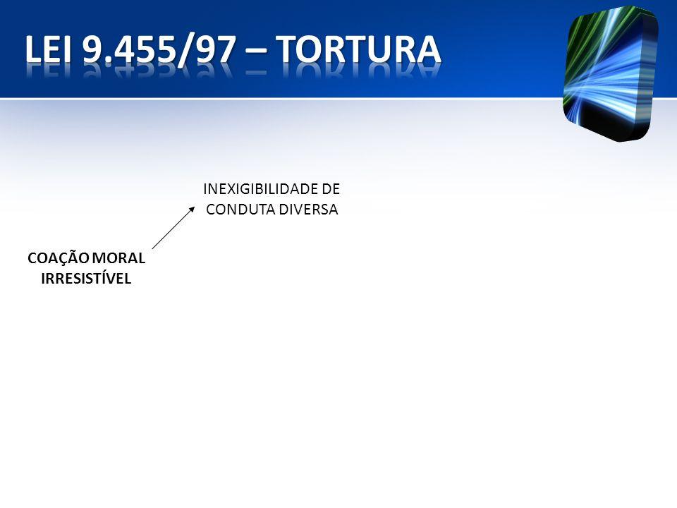 INEXIGIBILIDADE DE CONDUTA DIVERSA COAÇÃO MORAL IRRESISTÍVEL