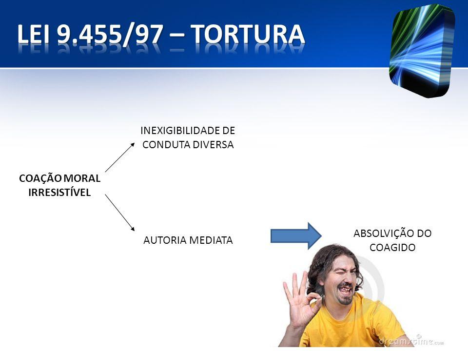 INEXIGIBILIDADE DE CONDUTA DIVERSA COAÇÃO MORAL IRRESISTÍVEL AUTORIA MEDIATA ABSOLVIÇÃO DO COAGIDO