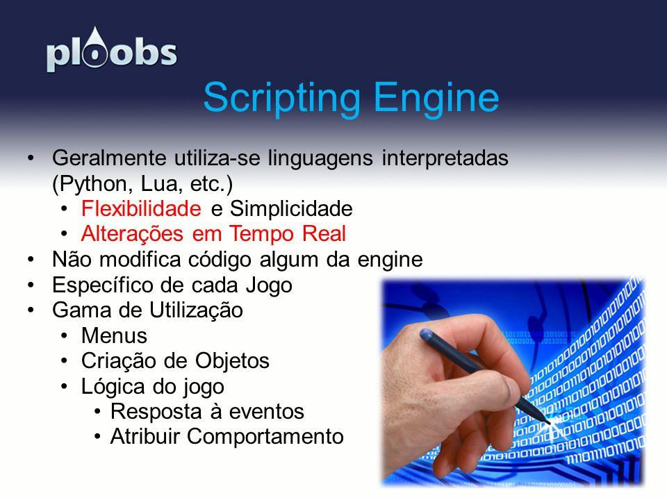 Page 10 Scripting Engine Geralmente utiliza-se linguagens interpretadas (Python, Lua, etc.) Flexibilidade e Simplicidade Alterações em Tempo Real Não