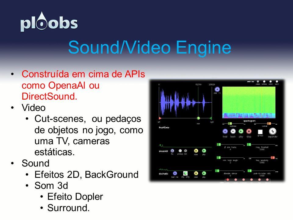 Page 11 Sound/Video Engine Construída em cima de APIs como OpenaAl ou DirectSound. Video Cut-scenes, ou pedaços de objetos no jogo, como uma TV, camer