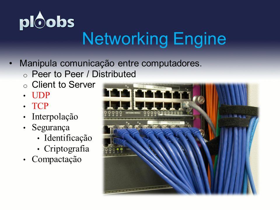 Page 13 Networking Engine Manipula comunicação entre computadores. o Peer to Peer / Distributed o Client to Server UDP TCP Interpolação Segurança Iden