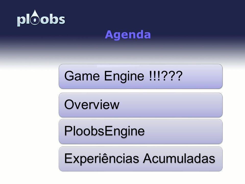Page 2 Agenda Game Engine !!!???OverviewPloobsEngineExperiências Acumuladas