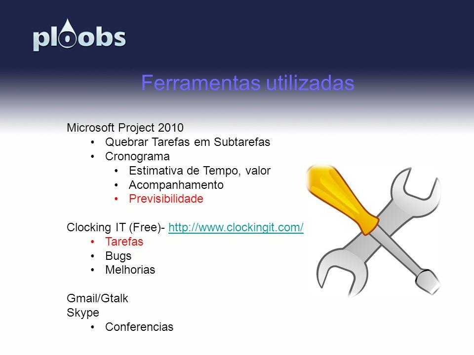 Page 46 Ferramentas utilizadas Microsoft Project 2010 Quebrar Tarefas em Subtarefas Cronograma Estimativa de Tempo, valor Acompanhamento Previsibilida