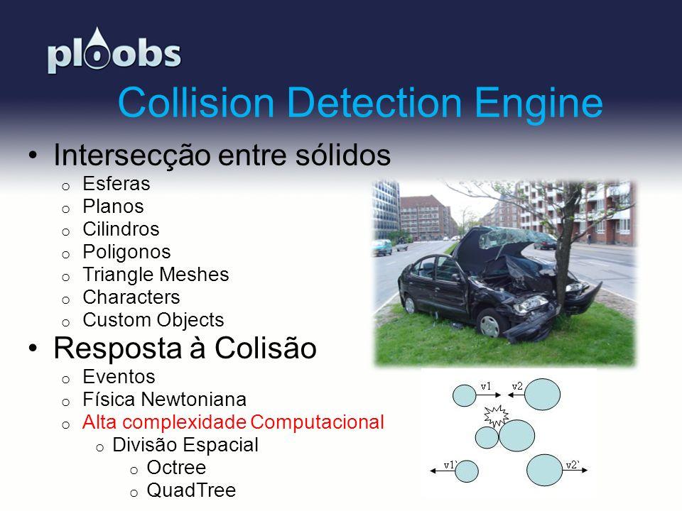 Page 8 Collision Detection Engine Intersecção entre sólidos o Esferas o Planos o Cilindros o Poligonos o Triangle Meshes o Characters o Custom Objects