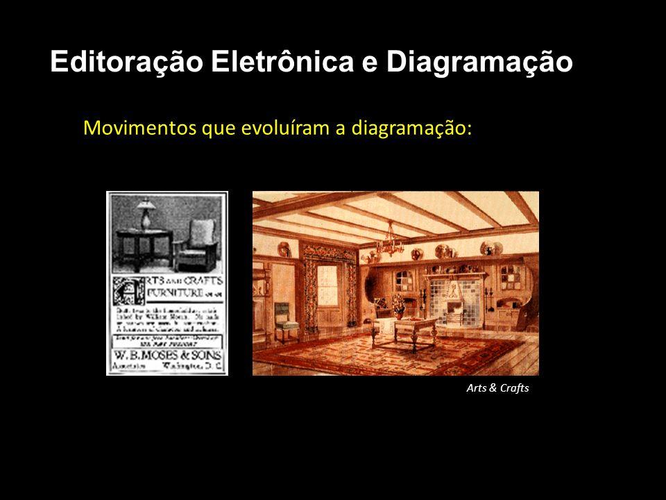 Editoração Eletrônica e Diagramação Movimentos que evoluíram a diagramação: Arts & Crafts