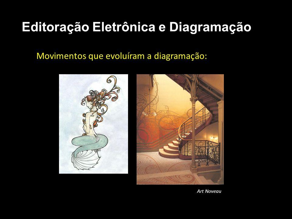 Editoração Eletrônica e Diagramação Movimentos que evoluíram a diagramação: Art Noveau