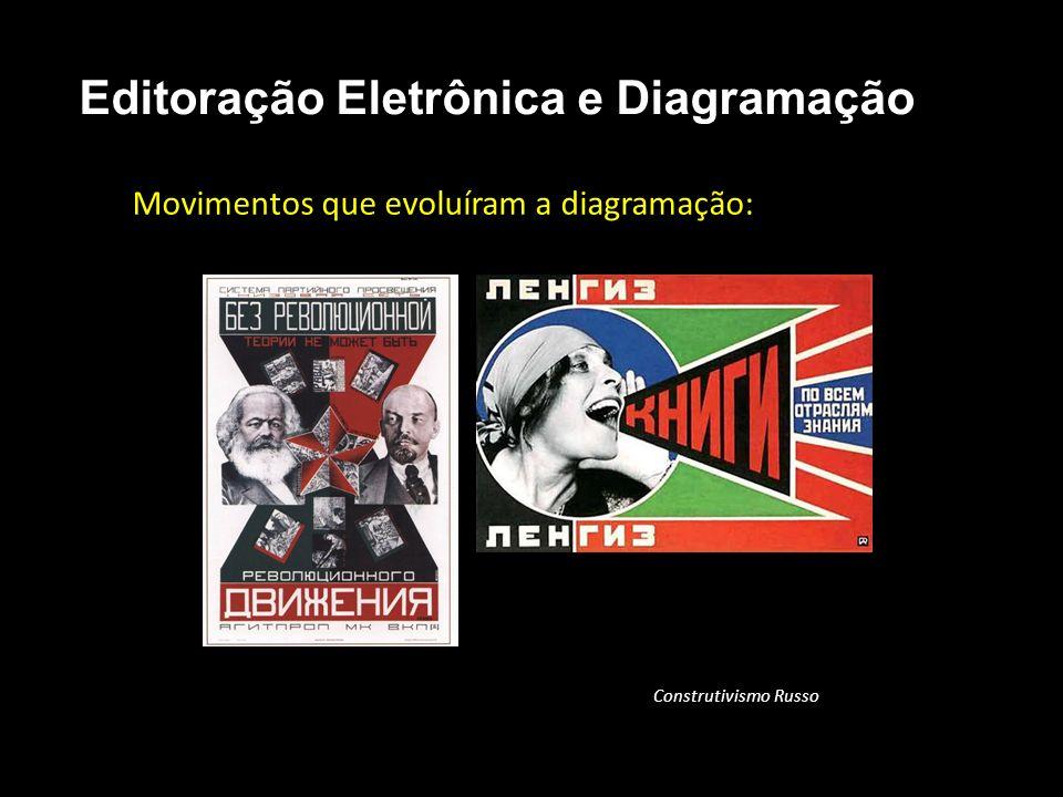 Editoração Eletrônica e Diagramação Movimentos que evoluíram a diagramação: Construtivismo Russo