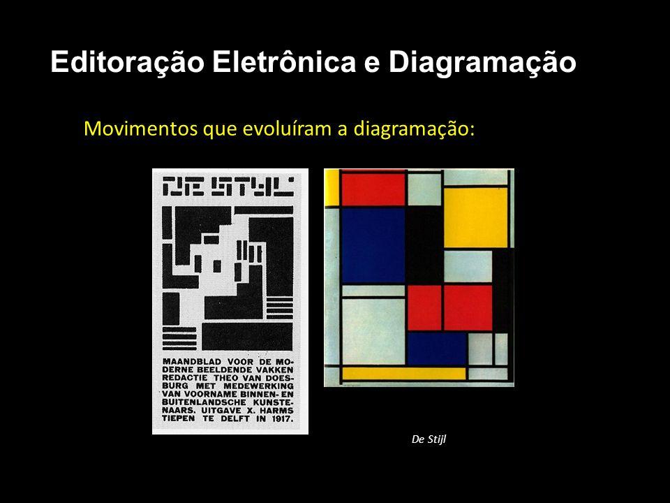 Editoração Eletrônica e Diagramação Movimentos que evoluíram a diagramação: De Stijl