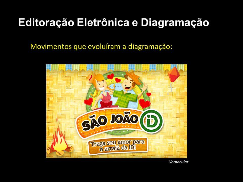 Editoração Eletrônica e Diagramação Movimentos que evoluíram a diagramação: Vernacular