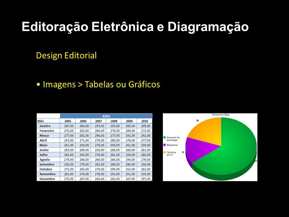 Editoração Eletrônica e Diagramação Design Editorial Imagens > Tabelas ou Gráficos