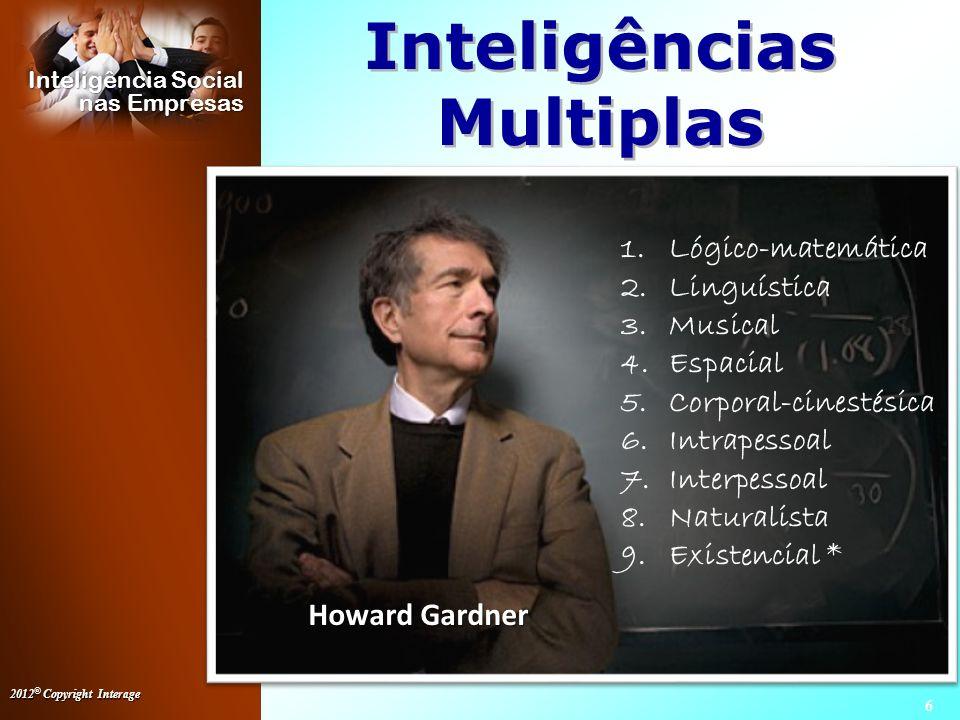 2012 © Copyright Interage 17 Inteligência Social nas Empresas ASSERTIVIDADE Passivo Agressivo Assertivo X X