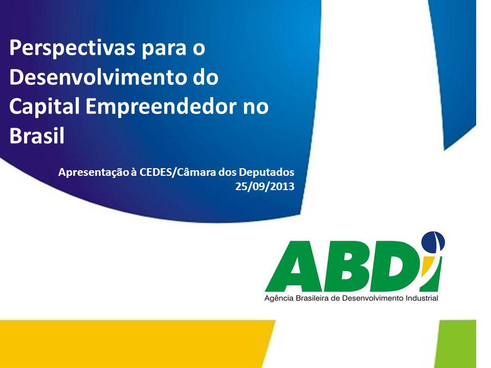 Perspectivas para o Desenvolvimento do Capital Empreendedor no Brasil Apresentação à CEDES/Câmara dos Deputados 25/09/2013