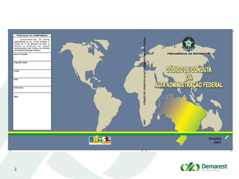 2 C ÓDIGO DE C ONDUTA DA A LTA A DMINISTRAÇÃO P ÚBLICA - CCAAF www.etica.planalto.gov.br Comissão de Ética Pública: criada em 1999 para elaborar o CCAAF e zelar por seu cumprimento