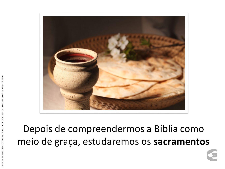 Depois de compreendermos a Bíblia como meio de graça, estudaremos os sacramentos Os primeiros passos do discípulo © 2011 Editora Cultura Cristã. Todos