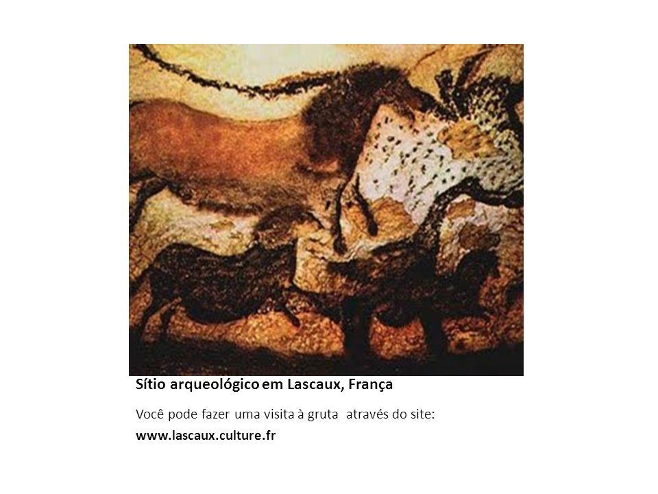 Sítio arqueológico em Lascaux, França Você pode fazer uma visita à gruta através do site: www.lascaux.culture.fr