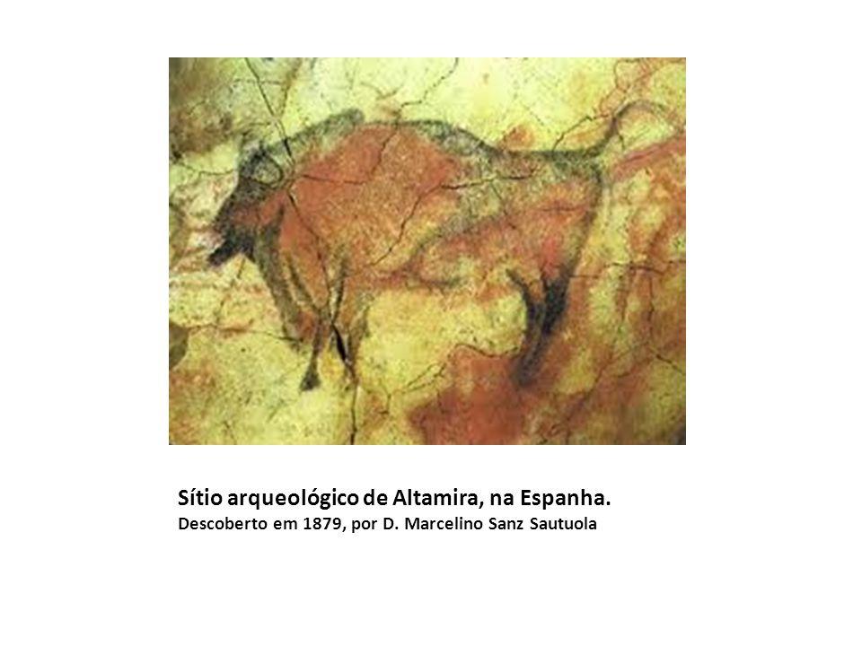 Sítio arqueológico de Altamira, na Espanha. Descoberto em 1879, por D. Marcelino Sanz Sautuola