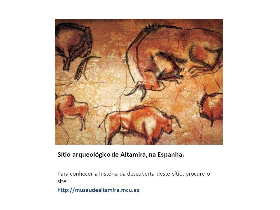 Sítio arqueológico de Altamira, na Espanha. Para conhecer a história da descoberta deste sítio, procure o site: http://museudealtamira.mcu.es