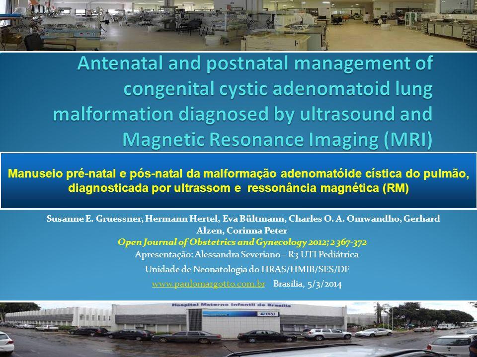Apresentação: Alessandra Severiano – R3 UTI Pediátrica Unidade de Neonatologia do HRAS/HMIB/SES/DF www.paulomargotto.com.brwww.paulomargotto.com.br Brasília, 5/3/2014 Susanne E.