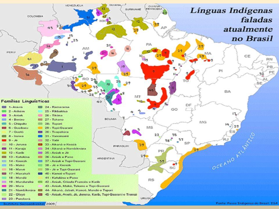 Principais grupos indígenas no Brasil: 1)Ticuna: 35.000 Fronteira Brasil/Peru.