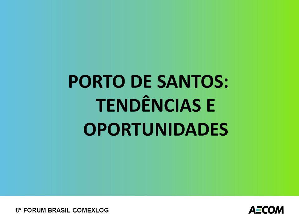 PORTO DE SANTOS: TENDÊNCIAS E OPORTUNIDADES 8° FORUM BRASIL COMEXLOG
