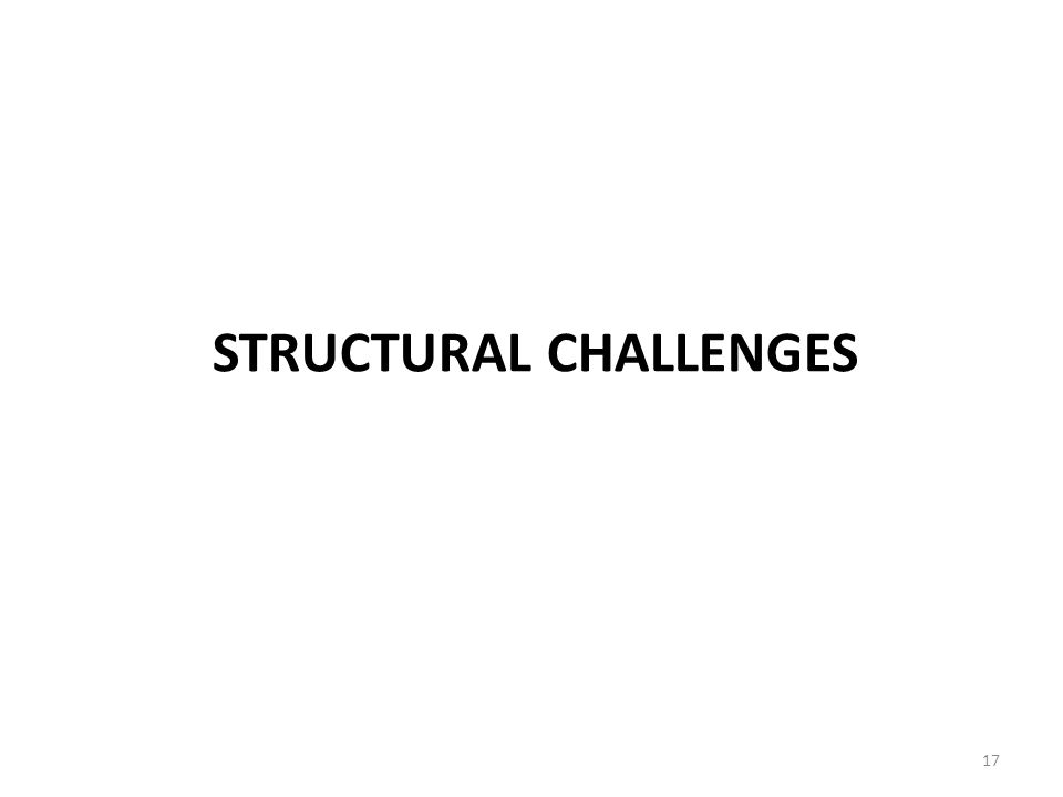 STRUCTURAL CHALLENGES 17