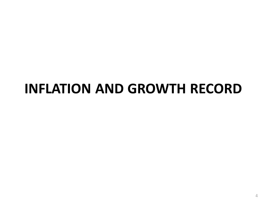 INFLATION AND GROWTH RECORD 4