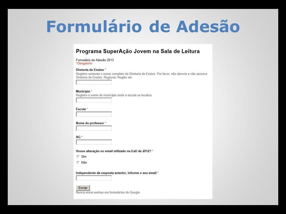 Formulário de Adesão