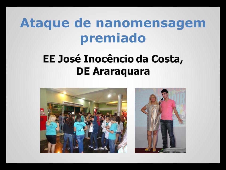 Ataque de nanomensagem premiado EE José Inocêncio da Costa, DE Araraquara
