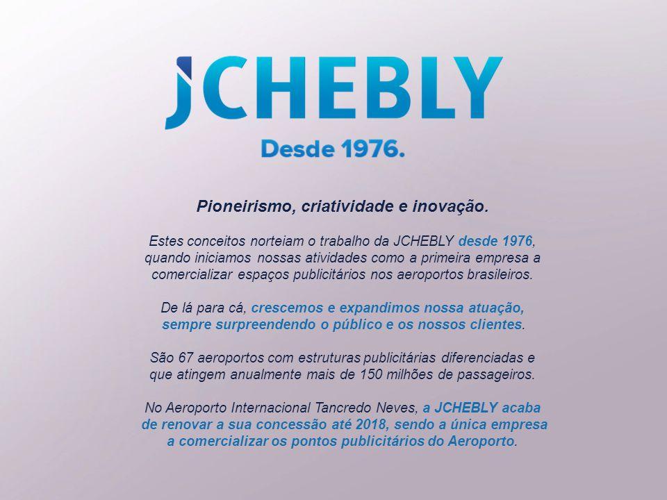 Pioneirismo, criatividade e inovação. Estes conceitos norteiam o trabalho da JCHEBLY desde 1976, quando iniciamos nossas atividades como a primeira em