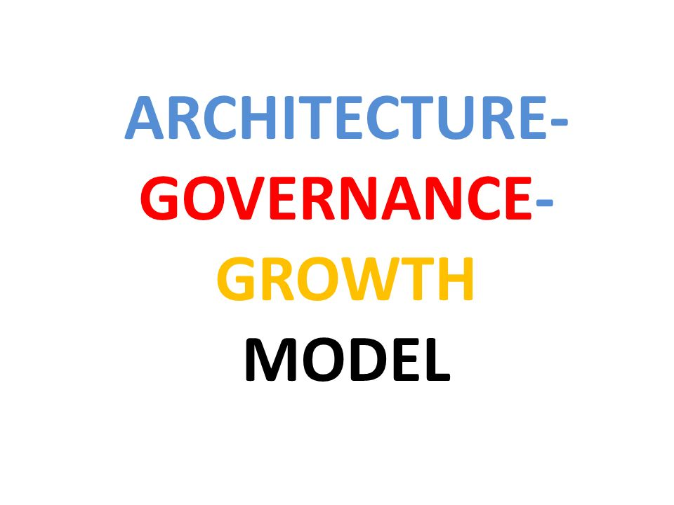 ARCHITECTURE- GOVERNANCE- GROWTH MODEL
