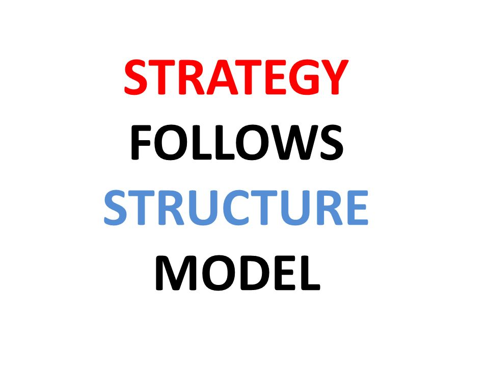 STRATEGY FOLLOWS STRUCTURE MODEL