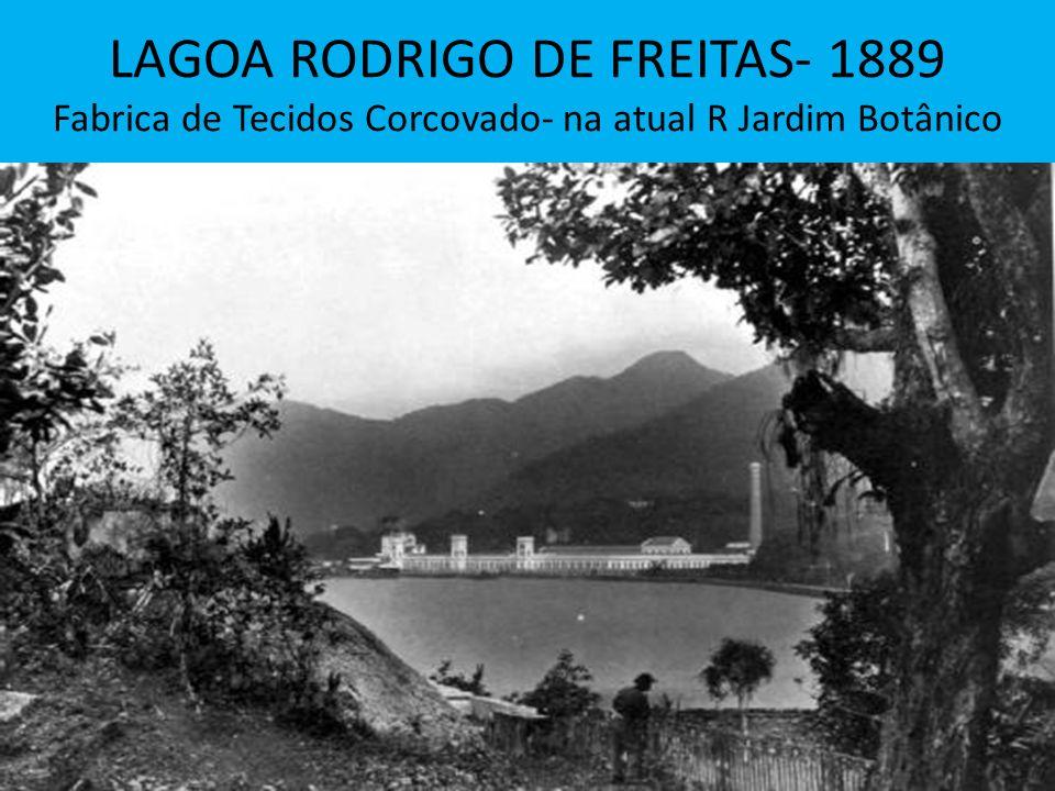 LAGOA RODRIGO DE FREITAS- 1889 Fabrica de Tecidos Corcovado- na atual R Jardim Botânico