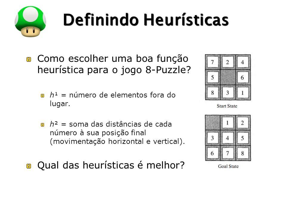 LOGO Definindo Heurísticas Como escolher uma boa função heurística para o jogo 8-Puzzle.