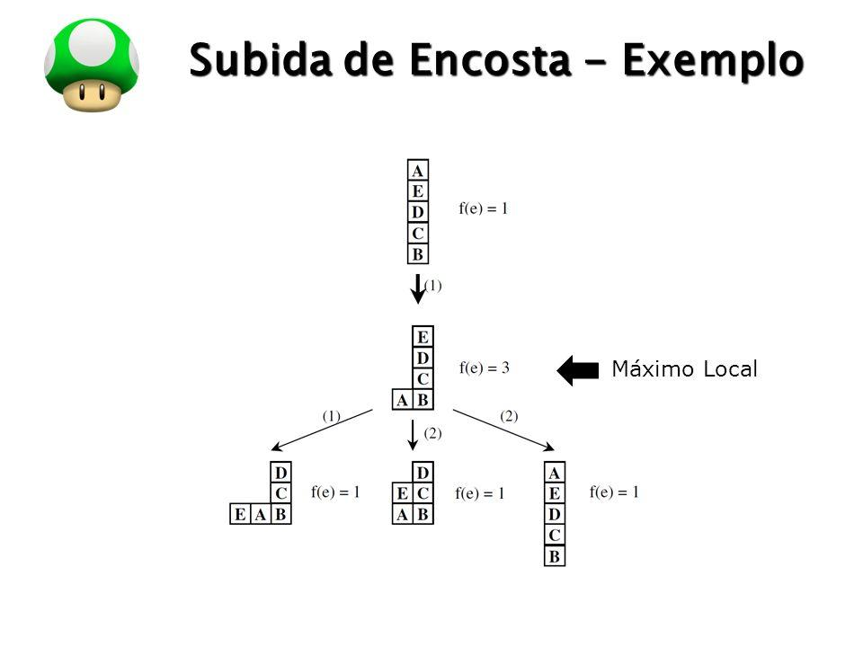 LOGO Subida de Encosta - Exemplo Máximo Local