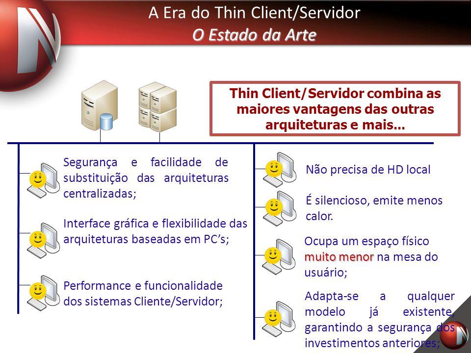 Thin Client/Servidor combina as maiores vantagens das outras arquiteturas e mais...