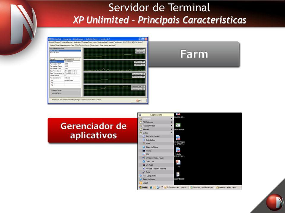 Servidor de Terminal XP Unlimited – Principais Características